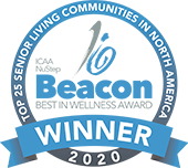 ICAA NuStep Beacon Best In Wellness Award Winner 2020 - Top 25 Secnior Living Communities in North America